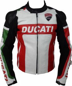 Ducati Men Biker Leather Jacket Motorcycle Leather Jacket Racing Leather Biker Jackets 52