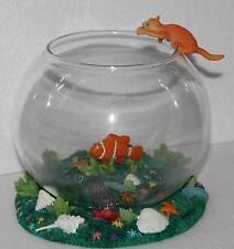 Clown Fish - Fish Bowl Glass  Home Decor 16cm Diameter  holds 2 lt Fish Tank