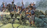 Italeri 1:72 - 6018, Französische Garde-Artillerie, 11Fig, 8 Pferde 2 Kanonen,