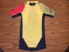 Reebok CrossFit Midcom Short Sleeve Compression Shirt Size Smal B84235 Yellow