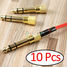 10X -KM 6.35mm 1/4 Inch Jack Plug to 3.5mm Male Stereo Headphone Socket Adapter