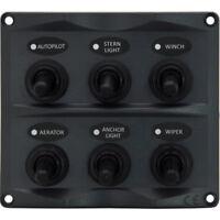 6 Gang LED Switch Panel Waterproof Toggle Switch Panel Caravan Boat Marine NEW