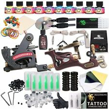 Dragonhawk Complete Tattoo Kit 2 Pro Machines Rotary Gun Power Supply 50