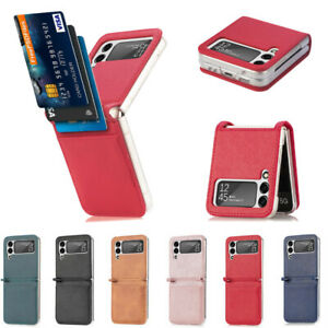 For SamsungGalaxyZFlip 35G Case Leather Card Slot Shockproof Cover