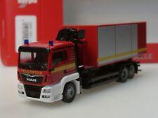 """Herpa MAN TGS L Wechsellader-LKW mit Kran """"Feuerwehr"""" neutral - 093705 - 1:87"""