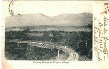 SIERRA LEONE PPC Card *Orogoo Village Railway Bridge* BELGIUM Brussels 1905 LS58