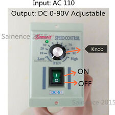 400W AC 110V Knob Motor Speed Controller DC 0-90V Variable Adjust Lathe Control