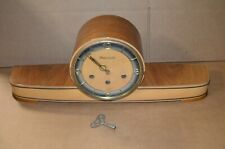 Vintage! Mid Century Modern Anker Westminster Chiming Mantel Clock with Key