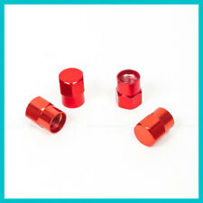 4 pieces Wheel Rim Tire Red Valve Stem Cap Universal