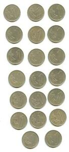 1980 URUGUAY COIN LOT UN NUEVO PESO CIRCULATED FOREIGN CURRENCY MONEY COLLECT