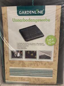 GARDENLINE Unterbodengewebe Unkrautflies Gartenflies Plane 1m x 10m Neu, OVP
