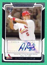 2008 Topps ALBERT PUJOLS AUTOGRAPH Cardinals