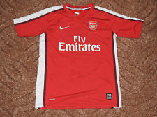 ARSENAL 2009 - 2010 Jersey Soccer / Football NIKE Shirt RED Size for Children L