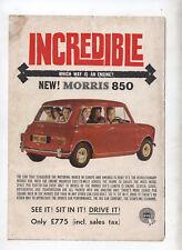 New BMC Morris Mini 850 Original Advertisement from a magazine
