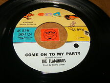 THE FLAMINGOS - COME ON TO MY PARTY - TRUE LOVE - LISTEN - DOO WOP POPCORN