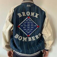 New York Yankees Mirage Baseball Jacket Vintage Reversible Men's L