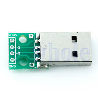 USB to DIP Adapter Converter 4pin for 2.54mm PCB Board DIY Power Supply TW