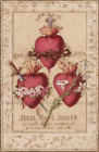 """Hearts of the Holy Family – 8.5x11"""" print – Including the Heart of St. Joseph"""
