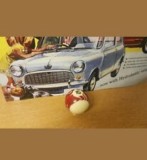 Classic Mini Cooper/Rover Gear Knob~Brown Marble N°15 Pool Ball~Screw On