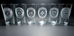 Zombies Perk a Cola Pint Glasses. Series1. 6 Glass Set. Call of Duty Black Ops