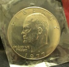 1977-D United States Eisenhower (Ike) dollar UNC mint set package, KM-203 (US4)