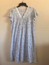 Croft  Barrow Women's Nightgown Size Large Dress Lounge Sleep Lace & Flowers