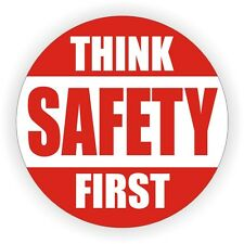 Think Safety First Hard Hat Decal / Helmet Sticker 1st Safe Construction Label