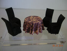 """DOLLHOUSE MINI 1/4"""" SCALE DINING SET, TABLE AND 4 CHAIRS"""