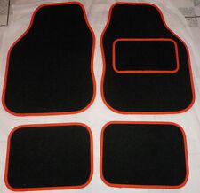 Car Mats Black and Orange trim mats for Fiat Punto Bravo Panda Doblo 500 Grande