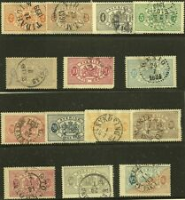 Sweden Scott #O12-25, Singles 1881-95 Complete FVF Used