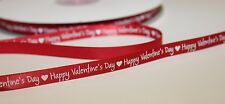 Happy Valentines Day 100 yard roll satin ribbon 14th february love craft gift