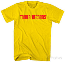 Tower Records- Classic Red Logo Apparel T-Shirt L - Gold
