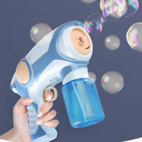 Kids Gift Smoke Bubble Machine Blower Bubble Gun Healthy Smoke Bubble Garden Toy