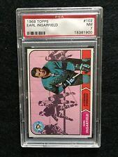 1968-69 Topps Hockey Cards #102, Earl Ingarfield,  PSA 7, Really Sharp Card!!!