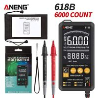 ANENG 618A/B/C Digital Multimeter Touch DC Analog Bar True RMS Auto Tester