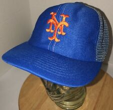 6d5313b5 ... germany vintage new york mets 80s ui inc trucker hat cap snapback mesh  two color rare ...