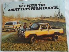 Dodge Adult Toys brochure 1977 USA market