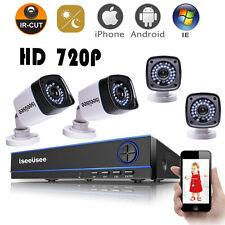 4CH 720P AHD DVR HDMI 1500TVL Outdoor CCTV IR Video Home Security Camera System