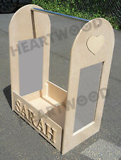 Dressing up stand 700mm high/Long mirror/Hanging rail/Heart shape/6 free letters