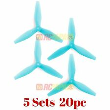 HQ Prop DP 5x4.5x3 v3 Tri-Blade Propellers Props for FPV Race (Light Blue) 20pc