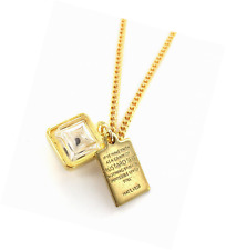 Real Mustard Seed Necklace - Pendant with Bible Verse Plate - Great Motivational