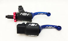 ASV F3 Pro Pack Shorty Blue Unbreakable Folding Brake + Clutch Levers Honda TRX