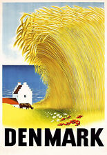 Art Ad DENMARK  Travel  Deco  Poster Print