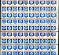 UNITED STATES SCOTT #O129A  14c OFFICIAL FULL SHEET OF 100 MINT NEVER HINGED