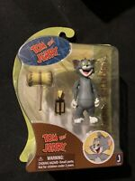 "JAZWARES TOYS TOM & JERRY WITH HAMMERING ACTION FIGURE 8 "" NEW HANNA BARBERA"