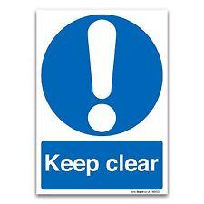 Keep clear A5 148x210mm 1mm Rigid Plastic Mandatory Safety Sign