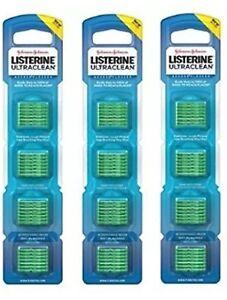 3 Listerine Flosser Refills Mint Flavor 28 Count Dental Oral Care