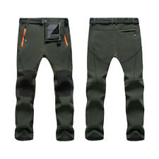 Unisex Soft Shell Outdoor Pants Thick Sugan Velvet WaterProof Hiking Trousers