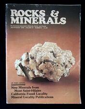 New listing Mont Saint-Hilaire Minerals & Kettleman Hills Fossils R&M Mag -Jul/Aug 1986