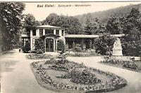 21015 AK Bad Elster Salzquelle Wandelbahn Statue Grünanlage Wege Haus um 1920